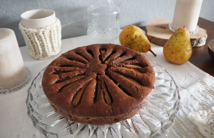 Schoki für graue Tage – Double Chocolate Cake mit Birne