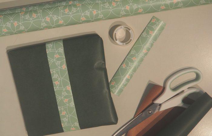 Wrapping Wednesday # Grün, schlicht und einfach