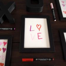 2017-skoen-och-kreativ-valentinstag-wandgestaltung-love-in-frames-brushpen (8)