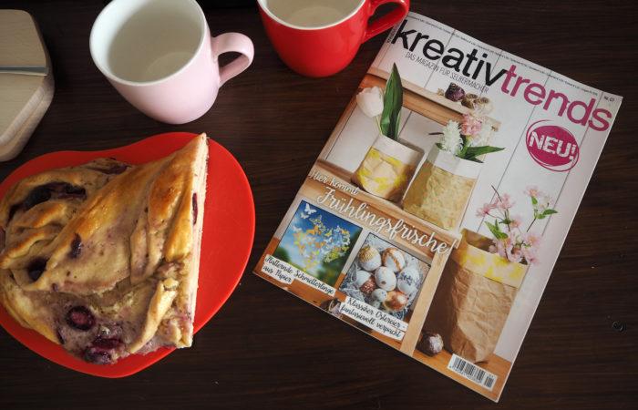 Kirsch-Hefezopf zur Sonntagslektüre # kreativtrends