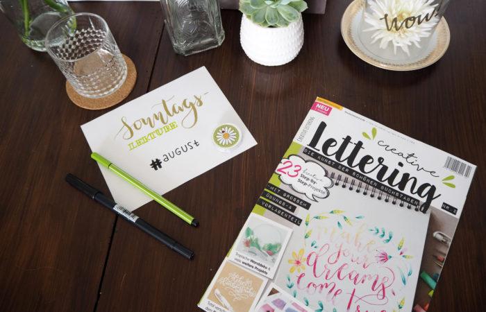 Sonntagslektüre im August # Creative Lettering