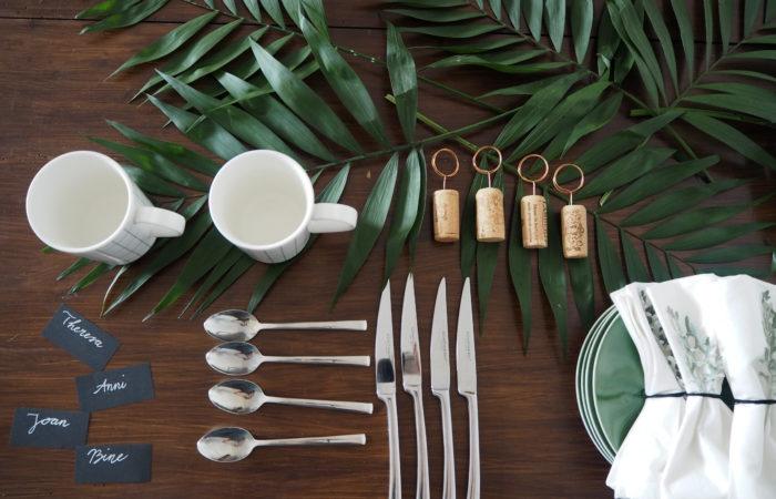 Tischdekoration # Urban Jungle