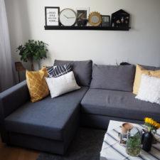 skön och kreativ interior wohnzimmer deko mexican summer goldgelb herbst