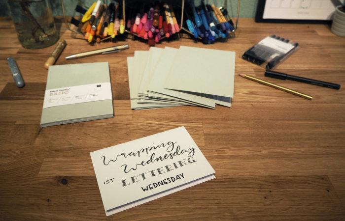 Wrapping Wednesday # Lettering für Weihnachtskarten