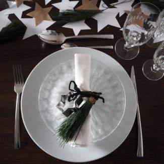 Tischdekoration # Sternenhimmel für den Silvestertisch