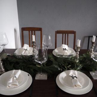Tischdeko # Schlichtes Tablesetting für Weihnachten
