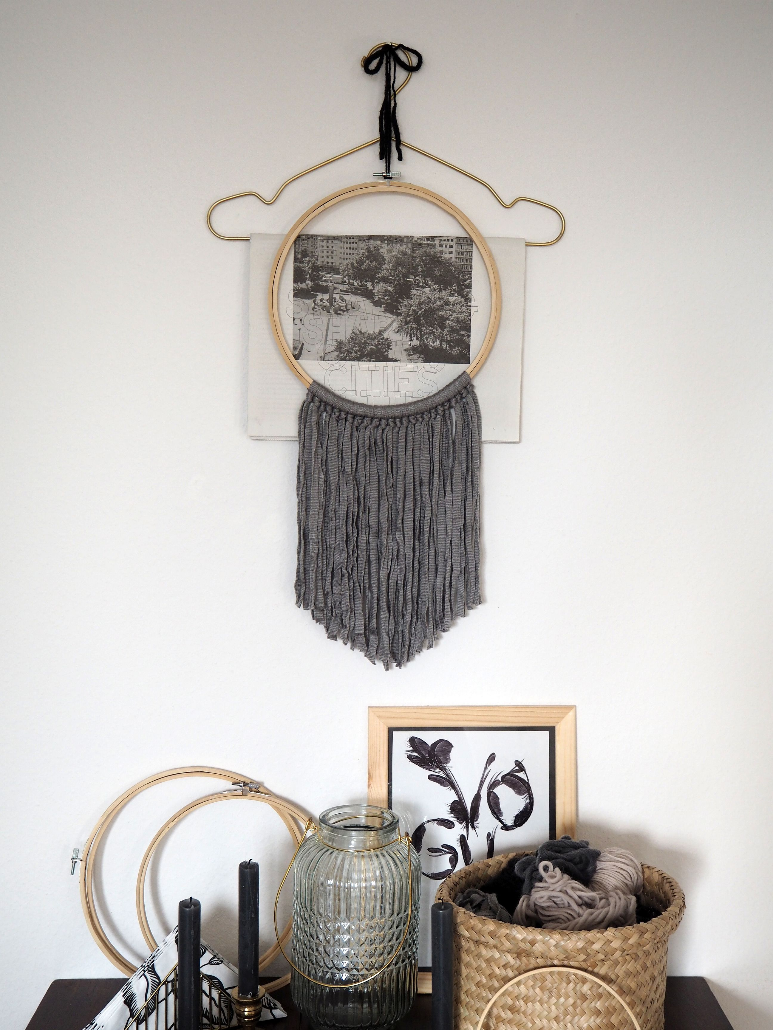 diy simples wand deko objekt im skandi stil sk n och kreativ. Black Bedroom Furniture Sets. Home Design Ideas
