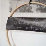 {DIY} Lettering # Skandinavische Wand-Deko zum Muttertag