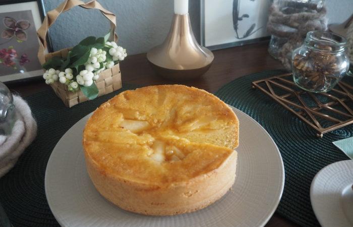 Ein gebackenes Experiment – Birnen-Polenta-Kuchen