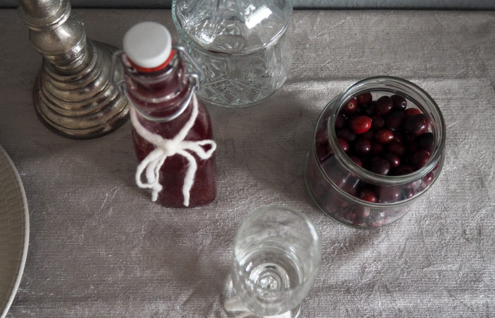 Xmas in a Jar #13: Cranberry-Sirup