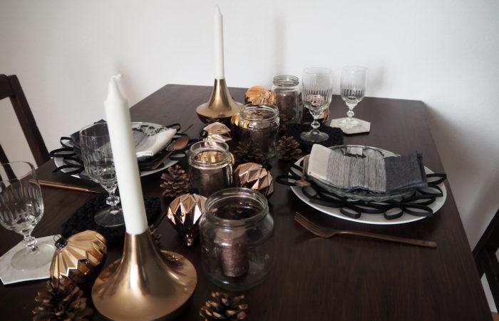 Tischdekoration # Glänzendes für Silvester
