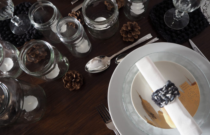 Xmas in a Jar #14: Lichtgläser als Tischdeko