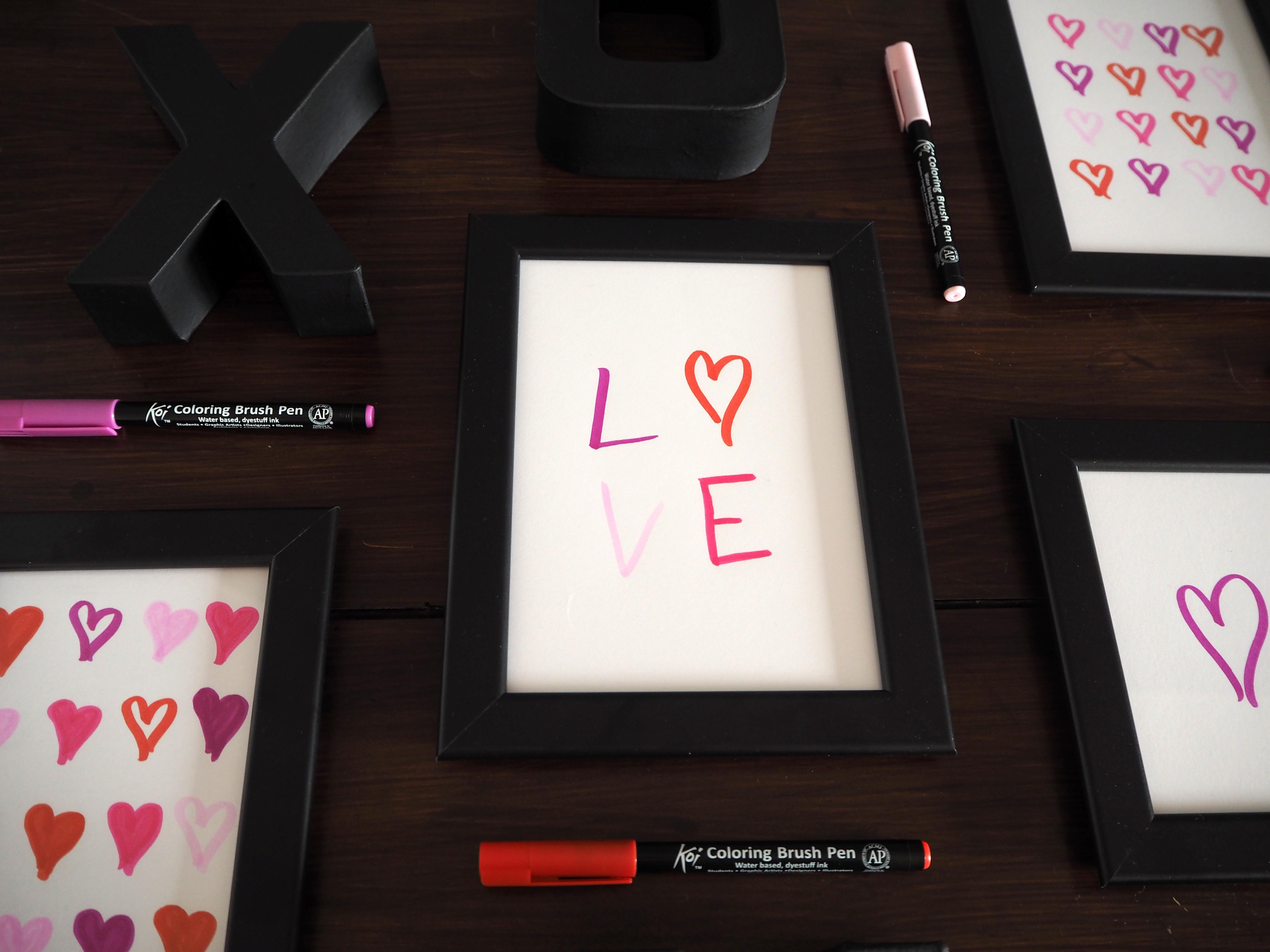 Love in Frames - Valentinstags-Kunst für die Wand   Skön och kreativ