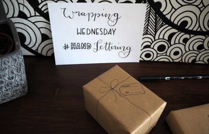 Wrapping Wednesday # Handlettering