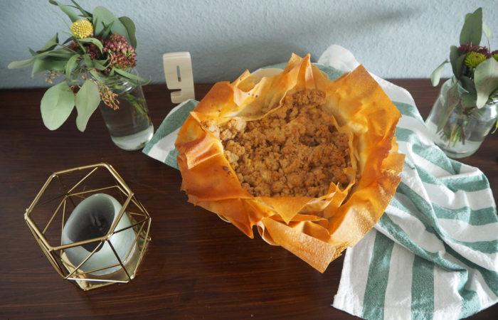 {Food} Filo-Streusel-Tarte mit Apfel & Birne