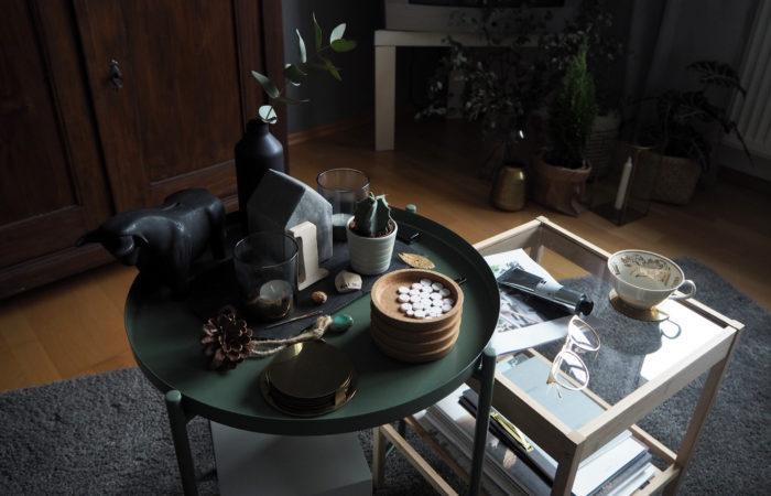 {Interior} Wohnzimmer-Update für Weihnachtsstimmung in Grün
