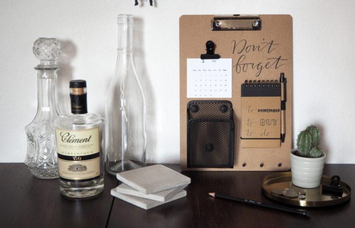 {DIY} Lettering # Memoboard für Väter