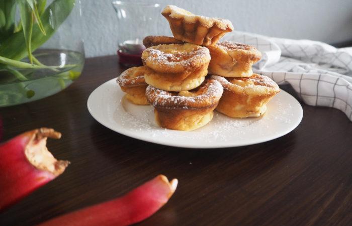 {FOOD} Midsommar # Rhabarber Mini Cakes für's Kuchenbuffet